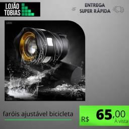 Título do anúncio: Farol Lanterna Bike Led 15000l T6 Recarregável Ajuste Foco