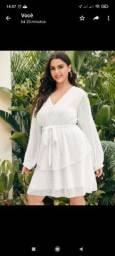 Vestido branco plus size delicado tamanho 4 xl