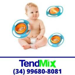 Título do anúncio: Prato Giratório Criança * Comida não cai *