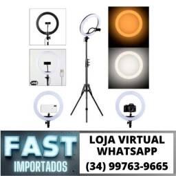 Título do anúncio: Ring Light Grande Tripé 2 metros - 26cm * Fazemos Entregas