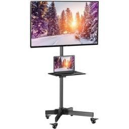 Suporte Tv monitor+ pedestal com rodinhas novissimo