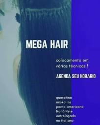 Colocamento mega hair