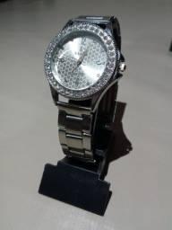 Relógio com Strass (Aço)