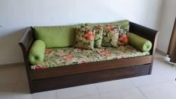 Título do anúncio: Sofá-cama em madeira com tecido impermeável