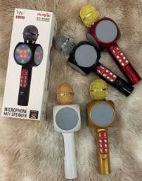 Título do anúncio: Modelo novo de Microfone Bluetooth Karaokê