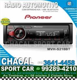 Título do anúncio: Rádio Pioneer Mvh - s218 bt ((com usb e bluetooth))