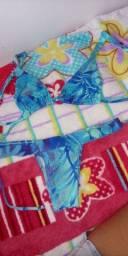 Biquíni azul estampado