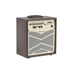 Título do anúncio:  Caixa Amplificada 8 Pol 110W Oneal Vintage OCM-4008B 12V Marrom - Bivolt - 12X Sem Juros