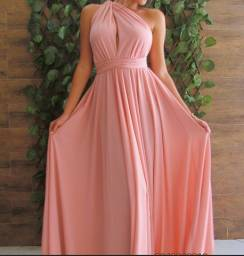 Vestido infinity rosê