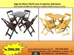 Jogos de mesas e cadeiras dobráveis