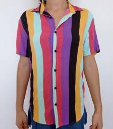 Camisa unissex listrada