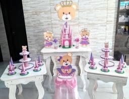 Decoração ursinha princesa em EVA COMPLETA