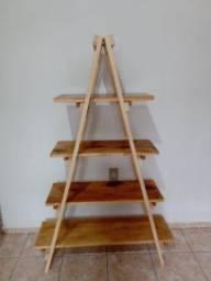 Estante Escada Desmontável- Decoração útil, rústica e elegante