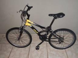 Bicicleta caloi max front - aro 24 - preta e amarela - 21 marchas
