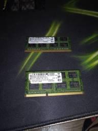 Duas Memória RAM ddr3 notebook 4gb
