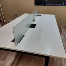 Mesa Estação de trabalho 4 lugares, mesa plataforma 4 lugares