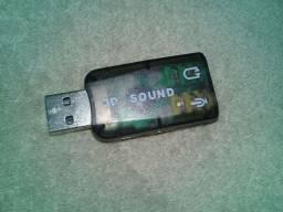 Adaptador de áudio usb