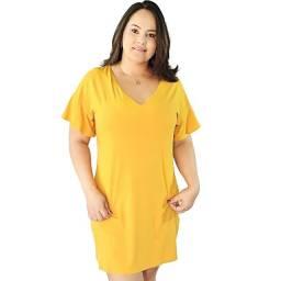 Vestido Em Malha Decote V - Hering
