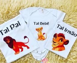 Camisas personalizadas adulto e infantil