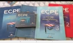 Livros (4un) exame de proficiência de Michigan ECPE e cd de áudio