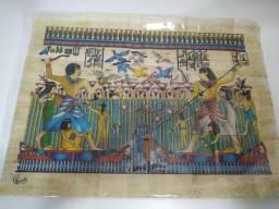 Papiro original do Egito, vindo de Cairo, com tema faraônico.