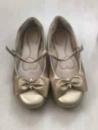 Sapato dourado Pampili - TAM 35