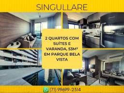 Apartamento no Parque Bela Vista, Singullare Iguatemi em 52m² com 1 vaga - Imperdível