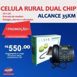 Título do anúncio: Kit Celular Rural Aquário Telefone + Cabo + Antena