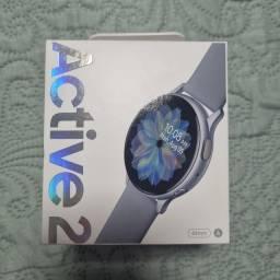 Smartwatch Galaxy Active 2 prata com Nf lacrado