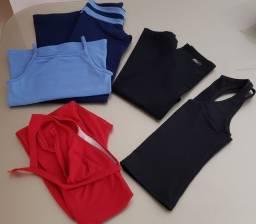 5 peças de roupas para academia tamanho P mto novas!!