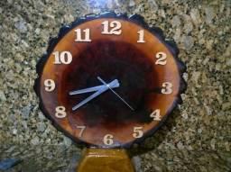 Relógio rústico luxo