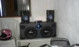 Vendo caixa de som completo com amplificador