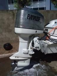Vendo motor Evinrude 225 hp ano 2001