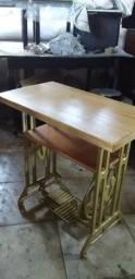 Aparador de pé de máquina antigo com tampo em madeira maciça comprar usado  São Paulo
