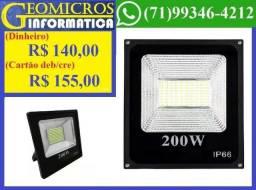 Holofote Micro Led SMD Refletor 200w lampada Bivolt Branco Frio (Loja Geomicros) comprar usado  Salvador