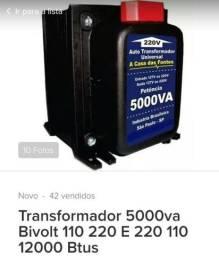 Vendo Transformador 5000va Bivolt 110 220 e 220 110 12000Btus