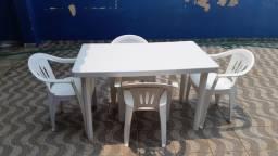 Mesa retangular de plástico branca - Somente MESA