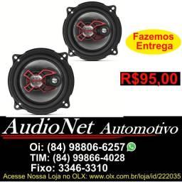 Alto Falante Bravox 5 100w Rms Triaxial B3x50x Fone Porta Carro