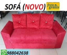 Preço Bom Demais!!Sofa 3 Lugares Com Almofadas Novo Apenas 499,00