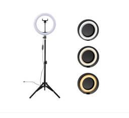 Título do anúncio: Ring Light Led Iluminador 26cm Completo 2,1m Tripé 210cm