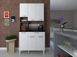 Armário de cozinha tannat com portas 6 portas - R$329,00