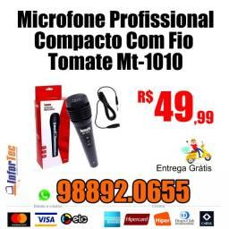 Microfone Profissional Compacto com Fio e Entrega GRÁTIS