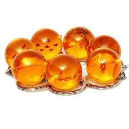 7 esferas do dragão dragon ball shenlong chaveiro - promoção