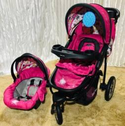 Carrinho de bebê luxo 3 em 1 triciclo Novo