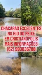 Chácaras no Rio do peixe em Cristianópolis-Go