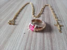 Vendo anel e corrente em ouro