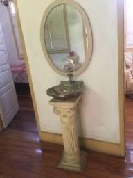 Antiga Pia+ Coluna+ Espelho