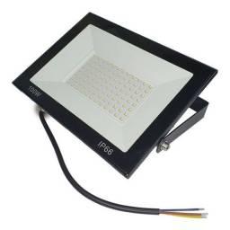 Refletor LED 100w slim Branco Frio (Caixa com 20 unidades)