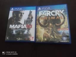 JOGO DE PS4 MAFIA 3 E FAR CRY PRIMAL