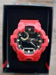 Relógio esportivo Smael vermelho